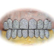 16 Permanent Cut Diamond Teeth Grill