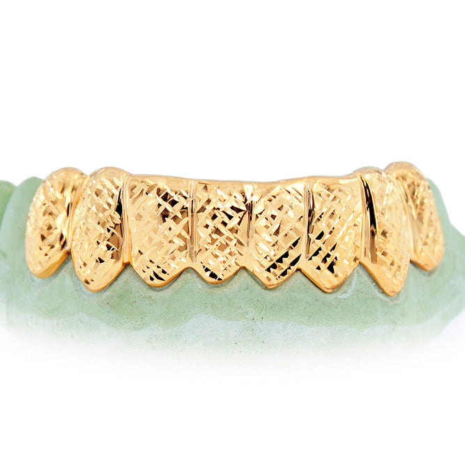 Custom 8 Teeth Diamond Cut Grill