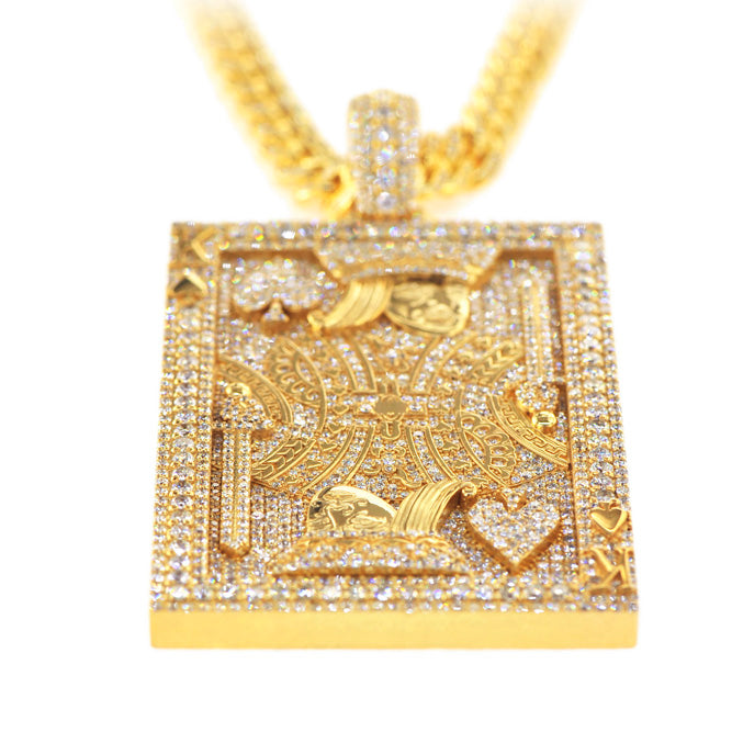 Custom Diamond King Card Pendant