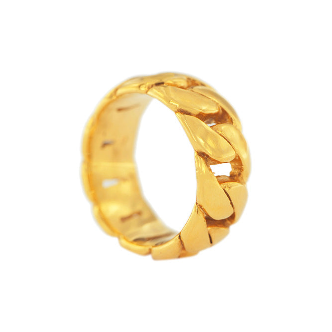1JDR0719171 CUBAN LINK BAND RING