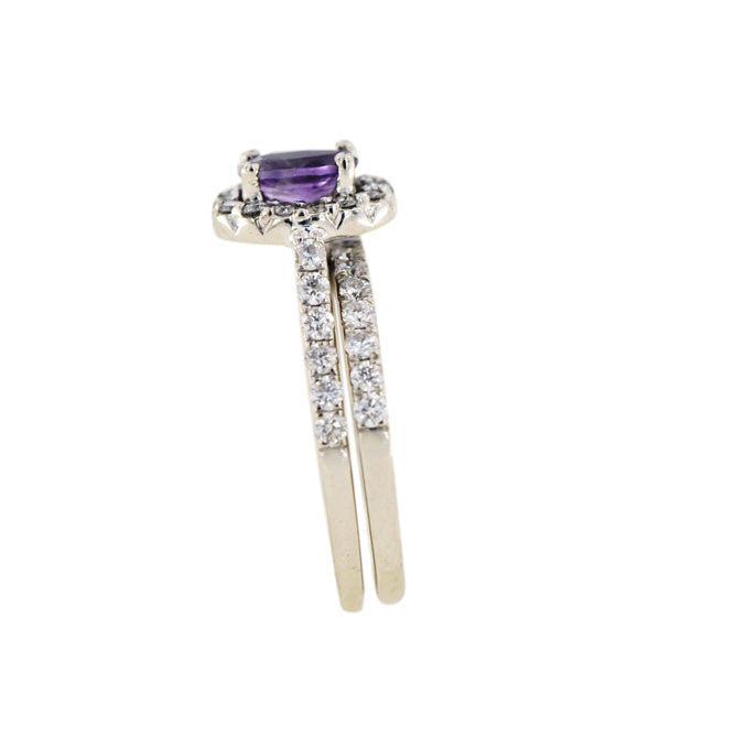 1JDR0922173 CUSTOM DIAMOND & PURPLE AMETHYST RING