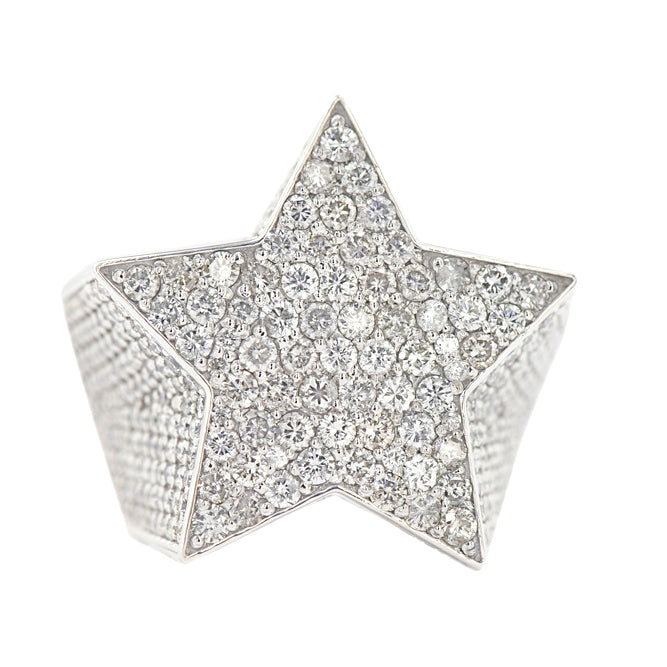 Custom Diamond Star Ring