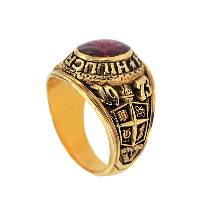 Red Ruby Graduation Ring