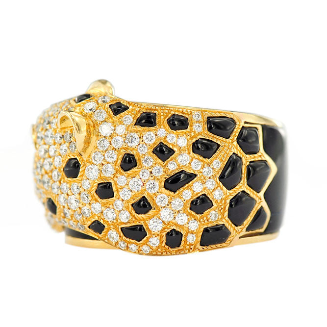 Diamond Cheetah Ring