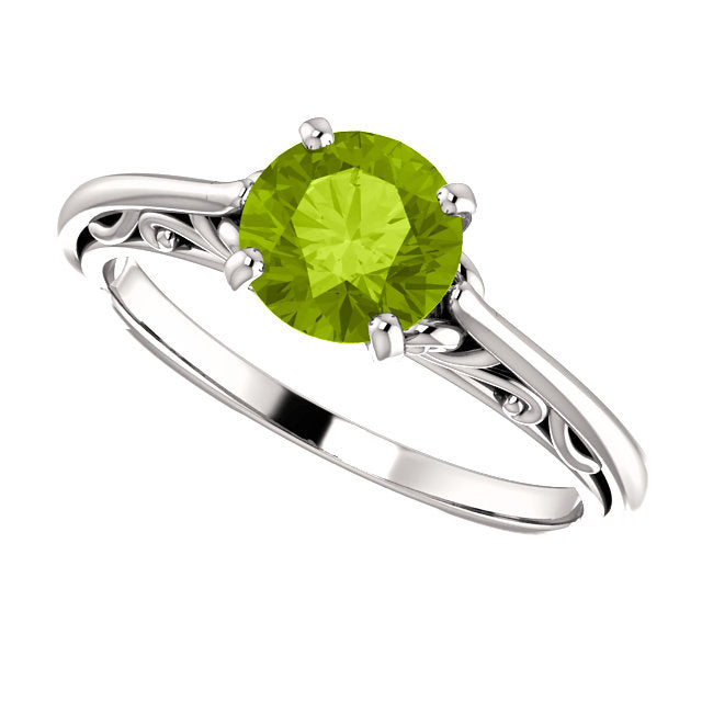6.5mm Round Engagement Ring