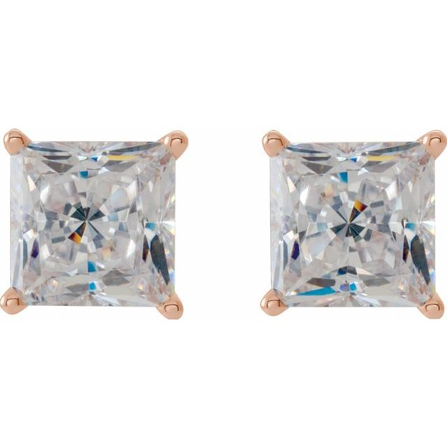 JDSP29968 - SQUARE 4-PRONG FLORAL-INSPIRED BASKET EARRINGS