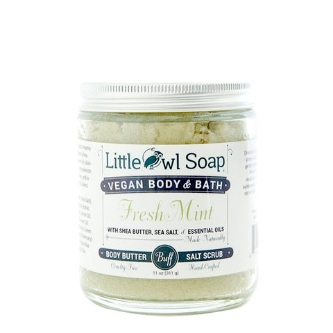 Fresh Mint Salt Scrub -  Little Owl Soap