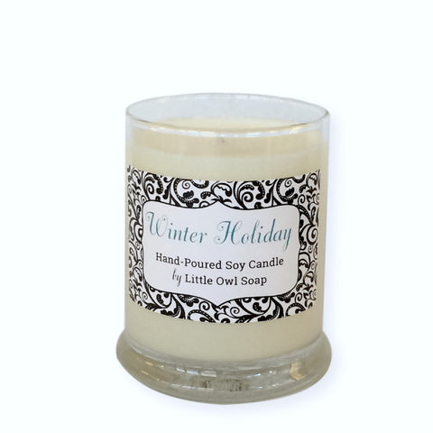 Winter Holiday Soy Candle -  Little Owl Soap