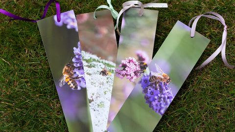 Vibrant bee bookmarks by GS Creative Photography Gifts