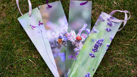 Vibrant floral bookmarks by GS Creative Photography Gifts