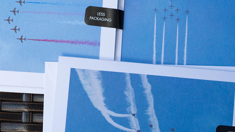 Plane Greeting Cards are A6 in size and created by GS Creative Photography Gifts