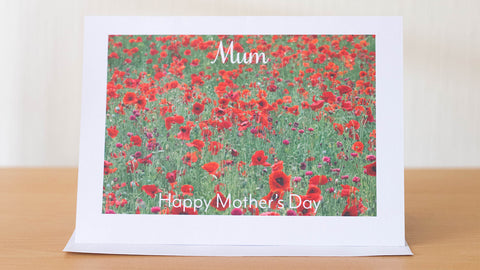 Mother's Day Poppy card by GS Creative Photography Gifts