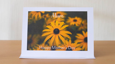 Mother's Day yellow flower card by GS Creative Photography Gifts