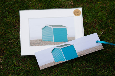 Featuring our beach hut framed print by GS Creative Photography Gifts