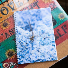 Load image into Gallery viewer, Dragonfly on Blue Hydrangeas Notebook- A5