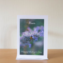 Load image into Gallery viewer, Lavender Bee Mother's Day Card- A6