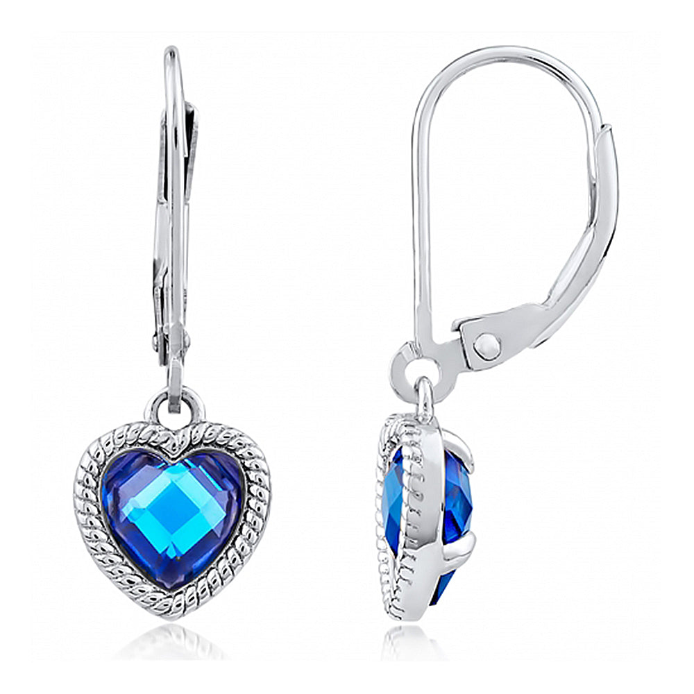 Blue Heart of the Ocean Earrings