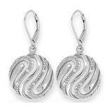 Round Microset Crystal Earrings with French Backs