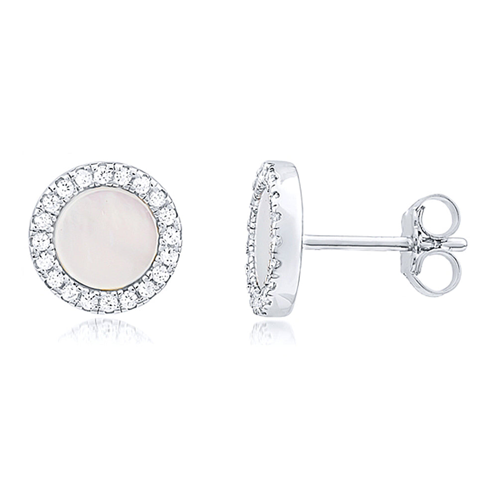 """Faux Pearl Stud"" Earrings"