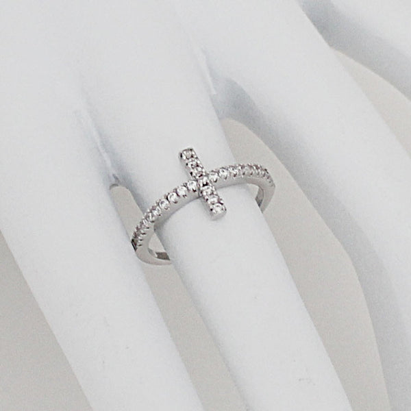 """Side Cross"" Ring"