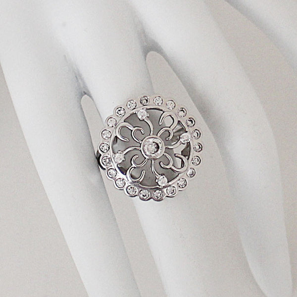 """Floral Print"" Ring"