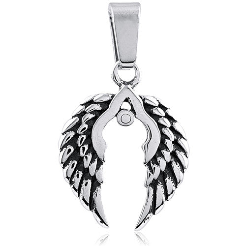Men's Stainless Steel Wings Pendant Style #5