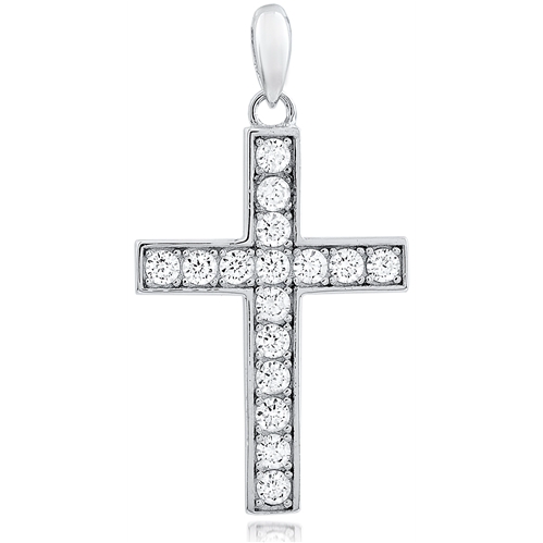 """Cross 4"" Silver Pendant"