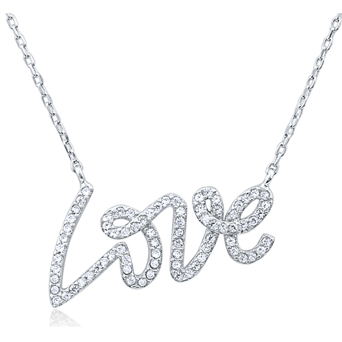 """Love Wins"" Silver Necklace"
