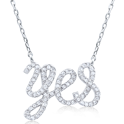"""I Do"" Silver Necklace"