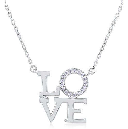 """Love On Top"" Silver Necklace"