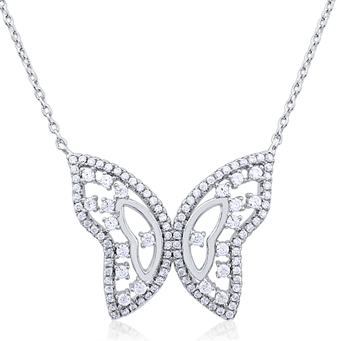 """The Butterfly"" Silver Necklace"