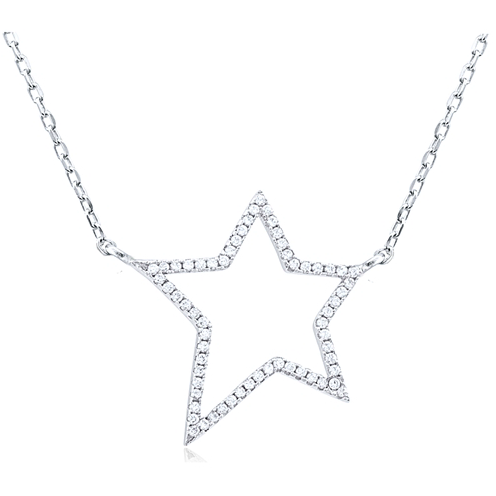 """Lucky Star"" Silver Necklace"