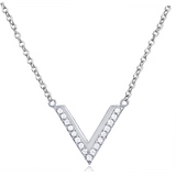 """The Vee"" Silver Necklace"