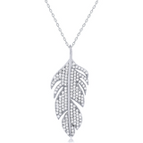 """Lasting Leaf"" Silver Necklace"