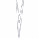 """The Show Stopper"" Silver Necklace"