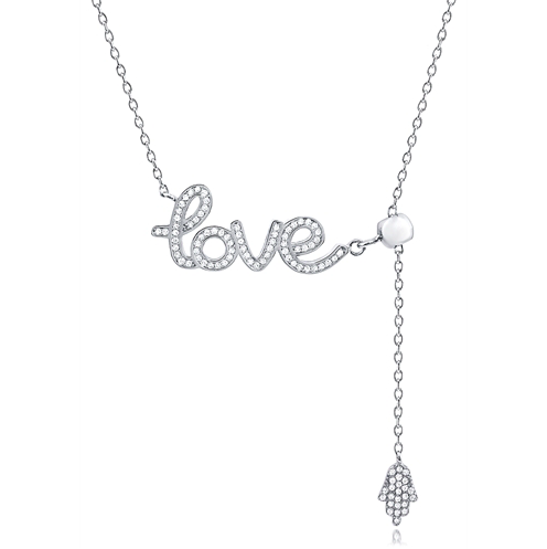 """Hamsa Love"" Silver Necklace"