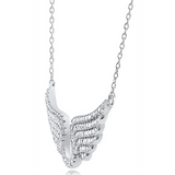 """Fly Angel"" Silver Necklace"
