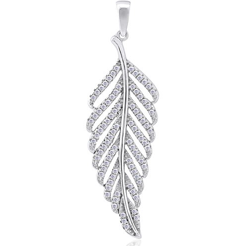 """Leaf of Time"" Silver Pendant"