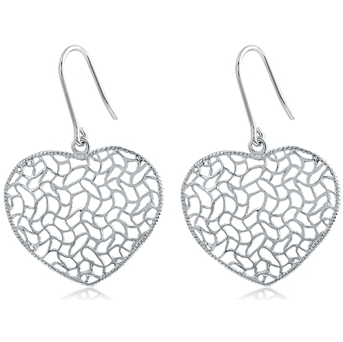 Heart Mesh Design Fashion Earrings