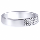"""Bling Band"" Silver Ring"