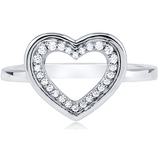 """The Sweet Heart"" Silver Ring"