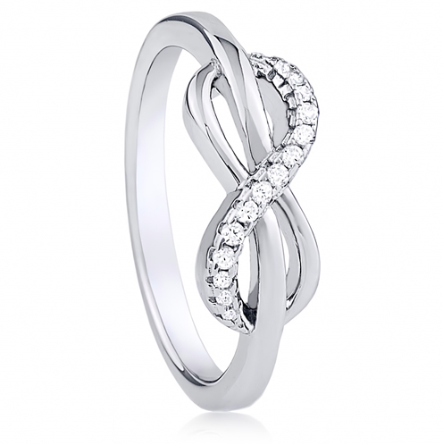 """To Infinity"" Silver Ring"