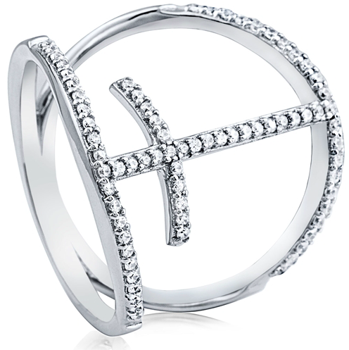 """Cross Connection"" Silver Ring"