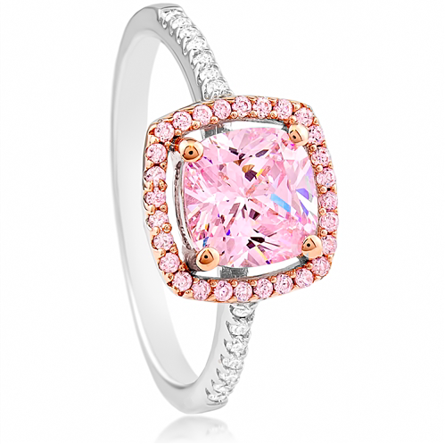 """Pink is Queen"" Silver Ring"