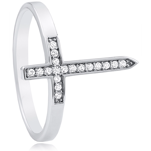 """The Only Cross"" Silver Ring"