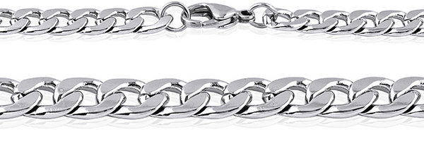 Men's Stainless Steel Curb Link Chain #10