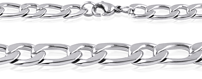 Men's Stainless Steel Figaro Link Chain #15
