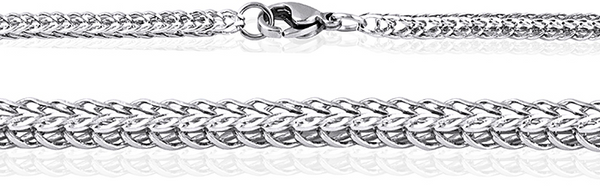 Men's Stainless Steel Fox Tail Link Chain