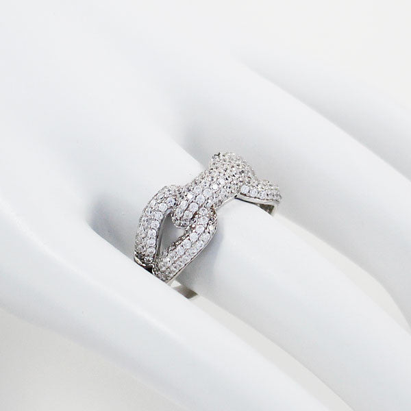 """Grand Entanglement"" Pave Set Ring"