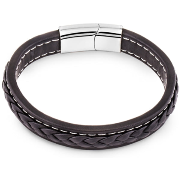 Men's Braided Leather Bracelet, Gift Box Included